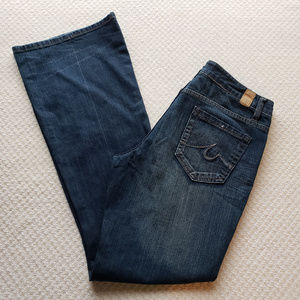 """Maurices 9/10 Molli Flare 9"""" Rise Dark Wash Jeans"""